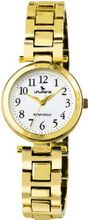 Laurens F269J901Y Fashion Analog Gold Plated White Dial Water Resistant