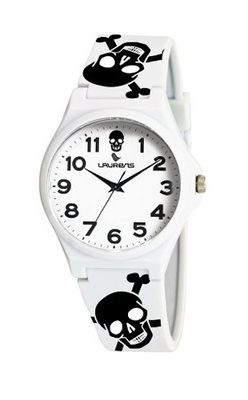 Laurens VR04J902Y Colored Rubber White Dial Rubber Skeleton Strap