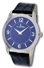 Le Chateau #7010M_BL Blue Dial Ultra Slim Leather Strap Dress