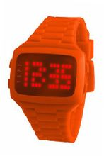 LED LED-OE-STP Unisex Digital Orange Dial And Pu Strap
