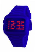 LED LED-PE-STP Unisex Digital Purple Dial And Pu Strap