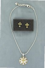 Lightning Ridge 29609 Cross Berry Concho Jewelry Set Silver/Gold