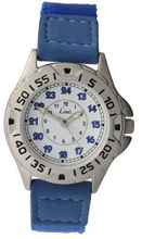 Limit 5314.01 Silver Coloured Boy's Blue Canvas Strap