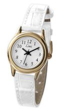 Limit 698135 Gold Plated White Leather Strap