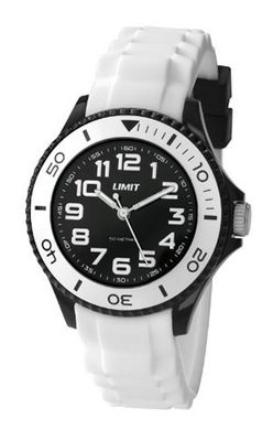 Limit Nitro Unisex Quartz with White Dial Analogue Display and White Silicone Strap 5471.01