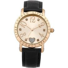 Lipsy LP113 Ladies Rose Gold and Black