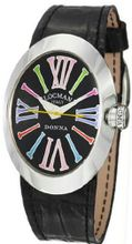Donna Quartz Black Dial Interchangeable Leather Straps