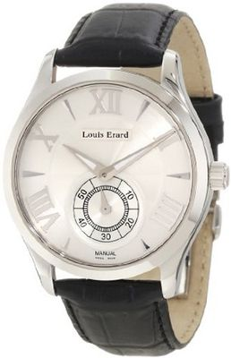 Louis Erard 47207AA21.BDCL21 1931 Silver Dial XL Brown Leather