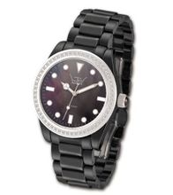 Ltd Ladies Black Ceramic 030623 With A Stone Set Bezel And Indexes With White Ceramic Bracelet Limited Edition