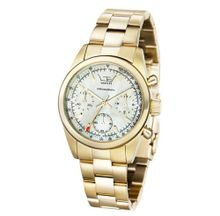 Ltd Ladies Quartz with Mother Of Pearl Dial Analogue Display and Gold Stainless Steel Plated Bracelet LTD 340301