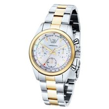 Ltd Ladies Quartz with Mother Of Pearl Dial Analogue Display and Silver Stainless Steel Plated Bracelet LTD 340501