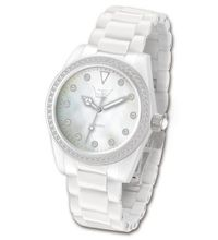 Ltd Ladies White Ceramic 020623 With A Stone Set Bezel And Indexes With White Ceramic Bracelet Limited Edition