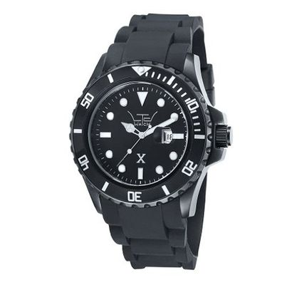 LTD X Collection Quartz with Black Dial Analogue Display and Black Silicone Strap LTD 330202