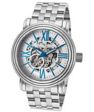 Domineer Automatic Silver Tone And Skeletonized Dial Stainless Steel