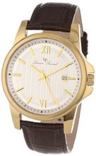Lucien Piccard 10048-YG-02S-BRW Breithorn Silver Textured Dial Brown Leather