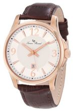 Lucien Piccard 11566-RG-02S Adamello Silver Textured Dial Brown Leather