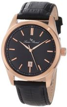 Lucien Piccard 11568-RG-01 Eiger Black Dial Black Leather