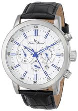 Lucien Piccard 12011-023S Monte Viso Chronograph White Textured Dial Black Leather