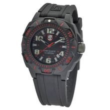 Luminox 0215.SL Sentry 0200 Black Dial With Red Markings On The Outer Bezel