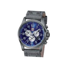 Luminox 1883 Atacama Chronograph 1880 Series Blue Dial With Charcoal Leather Strap