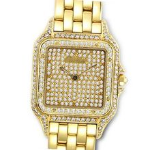 Diamond Studded Cartier Cougar in 18K Yellow Gold
