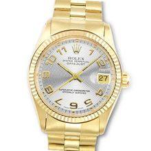 Rolex Date Just in 18K Yellow Gold