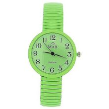 Mab London Apple Green Dome Shaped Dial Ladies Expander Strap EXPS18