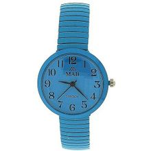 Mab London Aqua Blue Dome Shaped Dial Ladies Expander Strap EXPS15