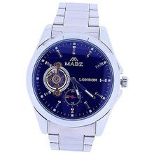 Mab London Automatic Gents All Stainless Steel Blue Skeleton Dial Plus Sub-Dial
