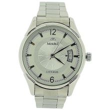 Mab London Automatic Gents All Stainless Steel Silver Dial Calendar/Date