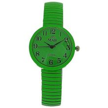 Mab London Bright Green Dome Shaped Dial Ladies Expander Strap EXPS16