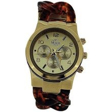 Mab London Chrono Effect Gold Tone Shell Link Bracelet Strap Ladies MPC1
