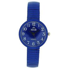 Mab London Dark Blue Dome Shaped Dial Ladies Expander Strap EXPS5
