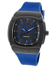 Dominator Black Textured Dial Blue Silicone