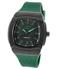Dominator Black Textured Dial Green Silicone