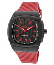 Dominator Black Textured Dial Red Silicone