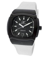Dominator Black Textured Dial White Silicone