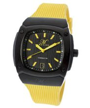 Dominator Black Textured Dial Yellow Silicone