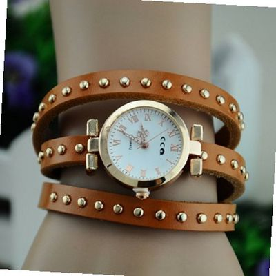 MagicPiece Handmade Vintage Style Leather For  Thin Belt Wrap in 8 Colors: Light Brown