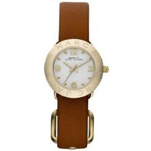 Marc By Marc Jacobs Amy Dinky Gold Tone Tan Leather MBM1285