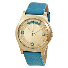 Marc by Marc Jacobs Baby Dave Champagne Dial Teal Leather Unisex MBM1263
