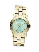 Marc by March Jacobs Amy Gold Tone Mint Dial