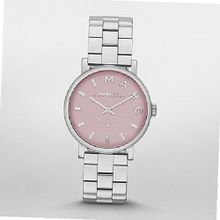 Marc by March Jacobs Baker Silver Tone Pink Dial