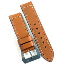 Pre-V by Mario Paci in Cognac with sewn in Stainless Steel buckle 24/24 125/80