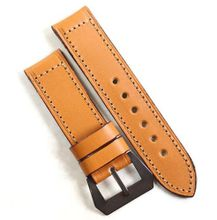 Pre-V by Mario Paci in Tan with sewn in PVD buckle 26/24 125/80