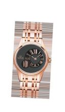 Ladies Marvin Rose Gold Off-centered Black Dial Stainless Steel Swiss Made