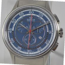 Marvin Chronograph ETA G15 Blue Dial Swiss Made Stainless Steel