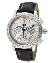 Masterpiece Flyback Automatic Chrono Silver (925) Dial Black Genuine Crocodile