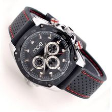 Unisex Automatic Date Sport Skeleton Mechanical Rubber Silicone Band