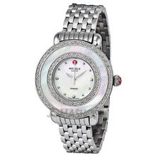 Michele Cloette Diamond Mother of Pearl Dial Stainless Steel Ladies MWW20E000001